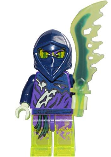LEGO Ninjago Minifigur Ghost Ninja Attila / Ming / Spyder mit Waffe (70732 70738 70735)