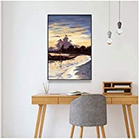 キャンバス絵画日の出アートポスター寝室の壁の写真リビングルームホーム装飾サロン壁画屋内プリント20x30cmフレームなし