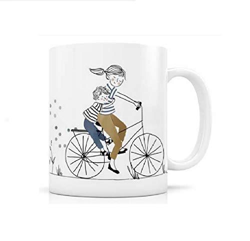 Label Tour – Taza de cerámica para bicicleta con hijos �