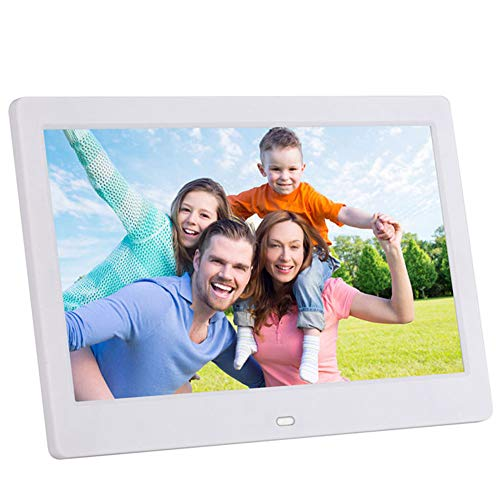WiFi Digital Picture Frame 10.1 Inch IPS Touch Screen HD Display 1080P High-Resolution IPS Screen 180°Viewing Angle Motion Sensor Auto-Rotate Display Photos Via SD USB, Cloud - Classic 10 (White) Digital Frames Picture