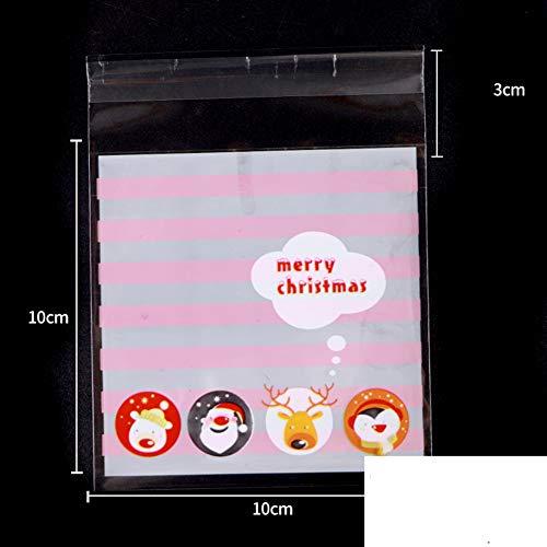 ACHICOO 100 stks Kerstboom Sneeuwman Bakken Tas Mooncake Koekjes Bakken Pak Cadeautas