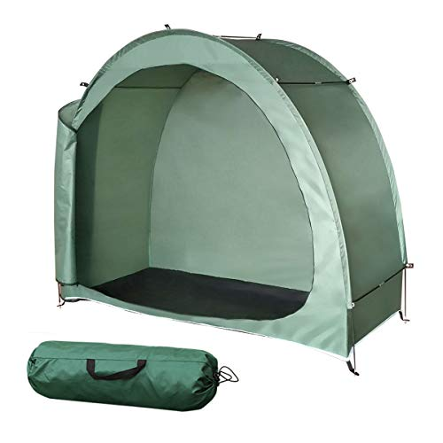H&ZT Bike Cover Storage Tent Tricycle Cover Storage Shed Tent, Durable Polyester Waterproof...
