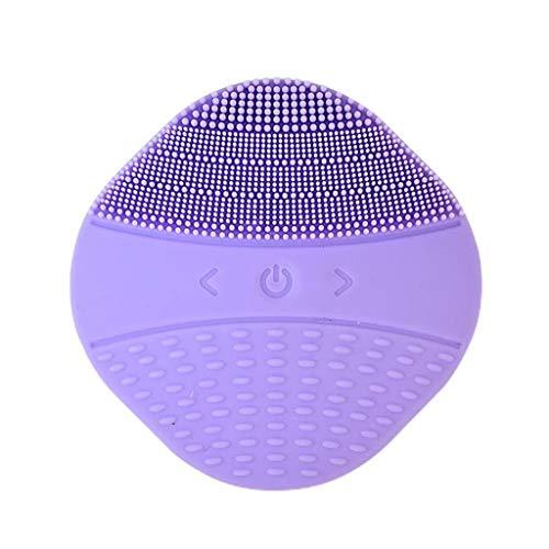 Brosse Nettoyante Visage, Pinceau facial ultrasonique anti-âge et outil de maquillage profond exfoliant imperméable pour polir, frotter et réduire l'a
