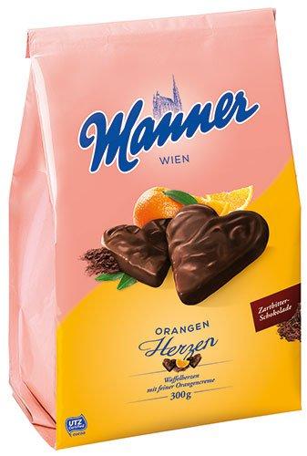 5x Manner - Herzen Orange UTZ - 300g