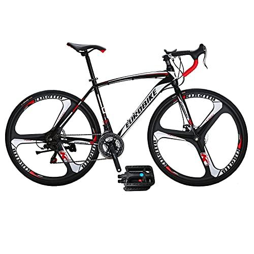 Eurobike Road Bike XC550 Mechanical Disc Brake Bike 49 cm Frame 21 Speed Gears 700C Mag Wheel Road Bicycle