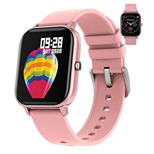 BNMY Smartwatch Relojes Inteligentes Hombre Reloj Deportivo Hombre Pulsometro, Pulsera Actividad Inteligente, Reloj Inteligente Mujer para Android E iOS,Rosado