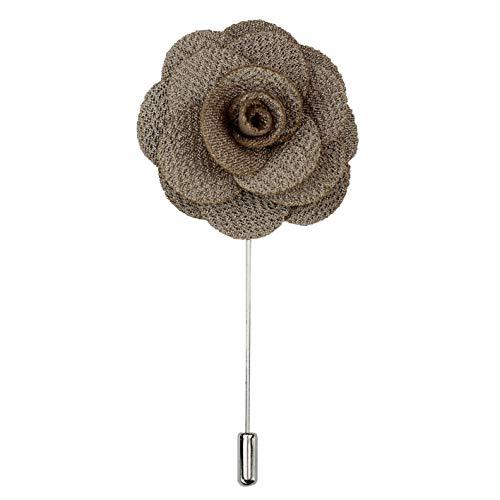Xposed Fiesta de la boda Traje Rose Pin de la solapa de la tela de la broche de ramillete de flores hombres de 10 colores en caja de regalo Reino Unido [LAPELPIN-10]