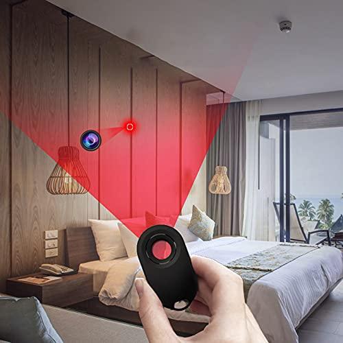 MINGJ Detector de Cámara Oculta de Contrainteligencia, Detector de Cámara Estenopeica para Baño de Hotel, Alarma Antirrobo para Equipaje Tipo Mochila