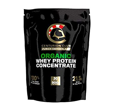 Centurion Club Nutrition Organic Unflavored Whey Protein Concentrate - 100% Natural, Grass Fed, Non-GMO Powder is Soy- and Gluten-Free with No Added Sugar, Sweeteners, or Flavour