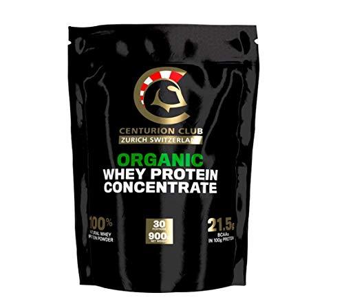 Concentré de protéine de lactosérum sans saveur Centurion Club Nutrition, 100% naturel, poudre sans OGM, ne contient ni soja ni gluten, sans sucre ajouté, édulcorant ou saveur (1 pack)