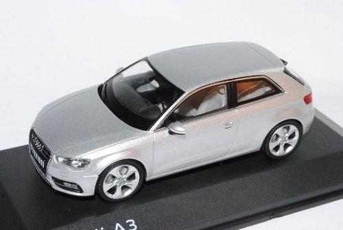 Schuco A-U-D-I A3 3 Türer EIS Silber 8V Ab 2012 1/43 Modell Auto mit individiuellem Wunschkennzeichen