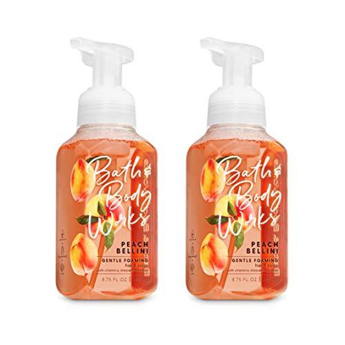 Bath&Body Works Gentle Foaming Hand Soap Peach Bellini, 8.75 Ounce, (Pack of 2) by Bath & Body Works