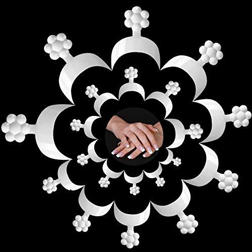 Hanyousheng 100 Stück Französisch Falsche Nagelspitzen Nail Art Tipps Halbe Nagelspitzen Falsche Nagelspitzen UV-Gel Beauty-Tools für Nagel Salons Hause DIY Nagel Maniküre mit Klar Box, 10 Größen
