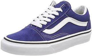 Vans Unisex Adults Old Skool Classic Suede/Canvas Sneakers, Blue (Estate Blue/True White), 8 UK (42 EU)