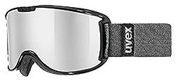 uvex Unisex– Erwachsene, skyper LM Skibrille, black, one size