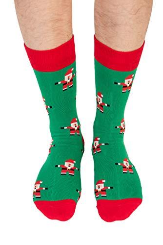 Santa Christmas Socks For Him | Santa Claus Fun Socks Gift for Men | Happy Gift Socks Xmas Present for Dad | Socks for Mum (Santa)