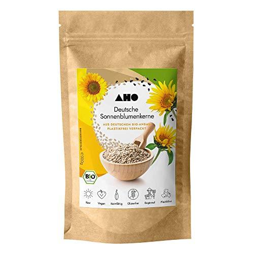 AHO Deutsche Sonnenblumenkerne 300g   Lokales Superfood aus Deutschland   Bio, Vegan, Plastikfrei, Regional (300g)
