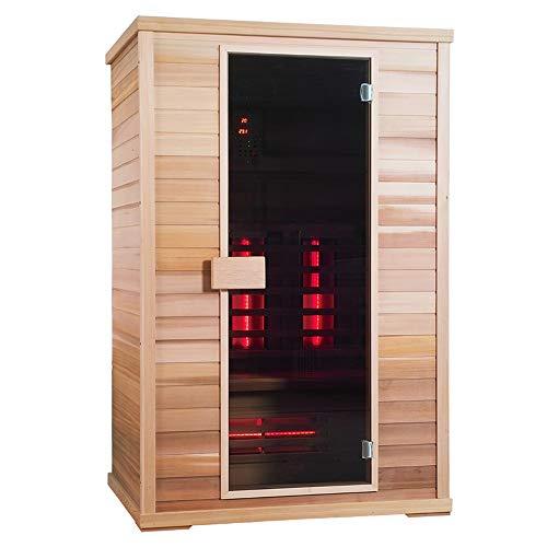 Fullspectrum-Sauna Sonic Spa - Classic Infrarotkabine - Classic 3 - Maße: 130 x 100 x 200 cm - inkl. vielen Extras, Holz Sorte:Kanadisches Hemlock Holz, Strahler Art:Incoloy Strahler