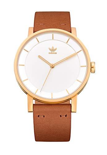 Adidas Herren Analog Quarz Uhr mit Leder Armband Z08-2548-00