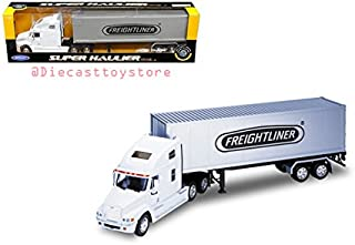 BRAND NEW DIECAST 1:32 W/B - SUPER HAULER - FREIGHTLINER COLUMBIA CONTAINER (WHITE/GREY) 32621W-WH BY WELLY