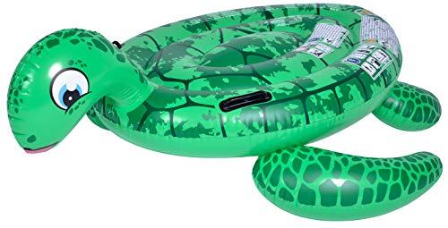 Pullach Hof Schildkröte Schwimmtier ca 140cm x 130cm Sommer 2 Haltegriffe 2 Luftkammern Schwimmen Baden Badetier Sommer Garten Schwimmbad