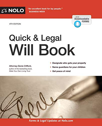 Compare Textbook Prices for Quick & Legal Will Book Ninth Edition ISBN 9781413327687 by Clifford Attorney, Denis