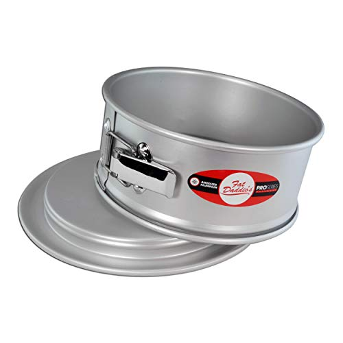 Fat Daddio's PSF-93 Springform Cake Pan, 9 x 3 Inch, Silver