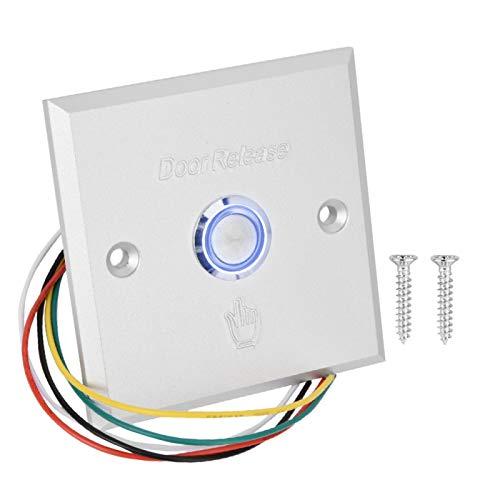 Aviviva Interruptor de botón de Apertura de la Puerta Sistema de Control de Acceso de la Puerta Botón de Salida Interruptor de liberación de presión de la Puerta con luz indicadora