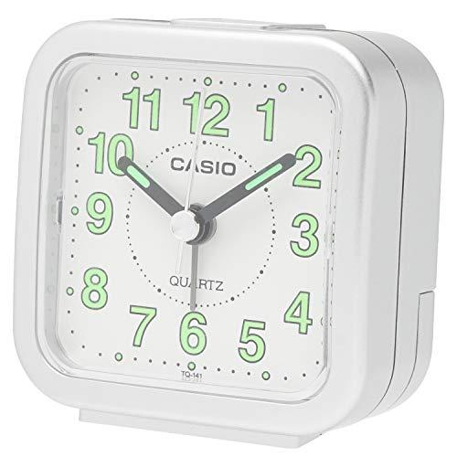 Casio Travel Clock TQ-141-8JF TQ-141-8JF Silver Metallic (Japan Import)