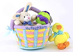 15 of the best personalized easter baskets and gift ideas my first easter basket negle Image collections