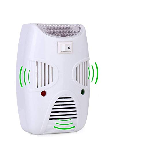 HNESS Electronic Home Pest & Rodent Repelling Aid for Mosquito, Cockroaches, Ants Spider Insect Pest Control Electric Pest Repelling Aid Magnetic Ultrasonic Indoor Rat Sensor