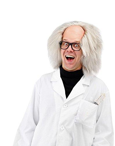 Folat - Peluca Einstein - Blanco - Talla única