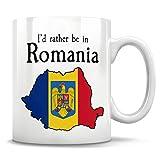 Lplpol Rumania Gift - Taza de café rumano, Mapa de Rumanía, Bandera de Rumanía, Rumania Rumanía, Rumania Orgullo, Rumania Nativa, abuela rumana