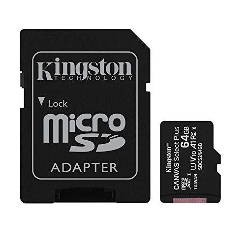 キングストン microSD 64GB x3枚 UHS-I U1 V10 A1 Nintendo Switch動作確認済 Canvas Select Plus SDCS2/64GB-3P1A