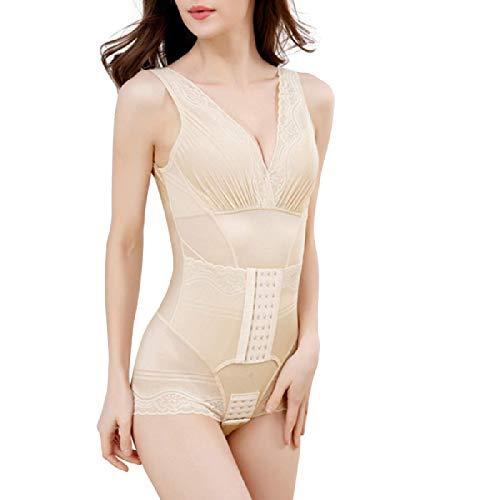 LIUJIU Frauen figurbildende Hosen Mieder Body Shorts Shapewear Effekt Bauch Schnur S, amarillo claro, XL