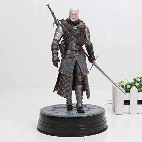 Cheaaff 9-25cm Wild Hunt Geralt Ciri Figur Geralt von Rivia Großmeister PVC Figuren Action & Spielzeug Sammlung Toy-151 Box-151 Box-In Box Weißes Haar