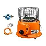 Kohyum Estufa de gas portátil, actualización de gas, calefactor de propano, estufa de gas, estufa de campamento, calefactor de tienda de campaña, calefactor para exteriores y pesca