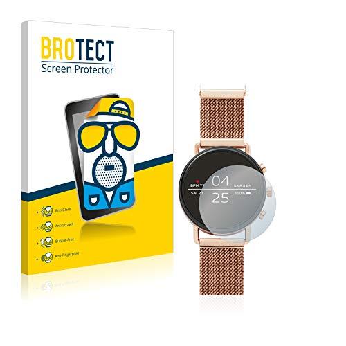 BROTECT 2X Entspiegelungs-Schutzfolie kompatibel mit Skagen Smartwatch Falster 40mm Bildschirmschutz-Folie Matt, Anti-Reflex, Anti-Fingerprint