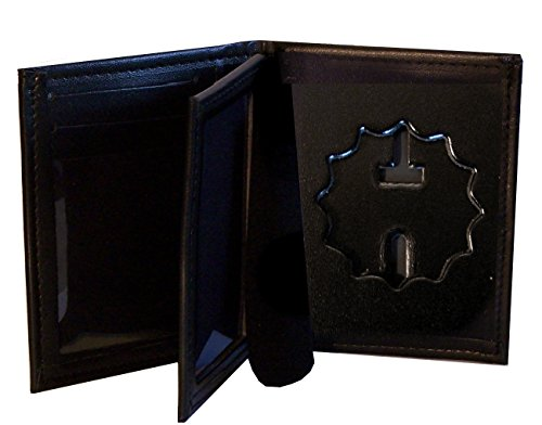 RF Blocking Hidden Badge Wallet for NY City Police Lieutenant or NY Dept of Corrections (Cutout PF27)