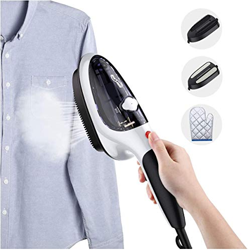 Handheld Steamer,Portable Clothes Iron,Travel Garment Steamer Small Clothing Wrinkle Remover for home College, Mini Lightweight Powerful Steamer with Steamfast Auto Shut Off for All Fabrics (black)