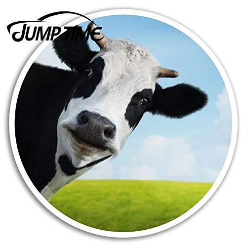 RSZHHL Car sticker Funny Cow Vinyl Stickers Cattle Farm Sticker Laptop Luggage Car Assessoires Window Decals Car Wrap DIY