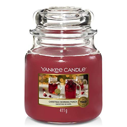 Yankee Candle Duftkerze im Glas (mittel) | Christmas Morning Punch | Brenndauer bis zu 75 Stunden