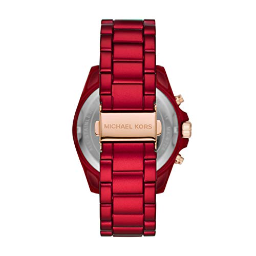 Michael Kors Women's Bradshaw Quartz Watch with Stainless Steel Strap, Red, 21.6 (Model: MK6724)