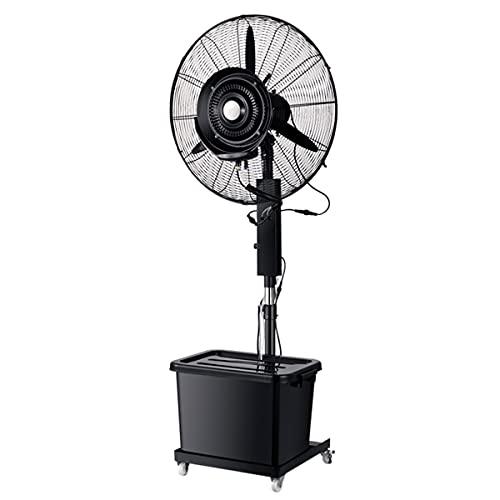 qwert Ventilador De Nebulización Alta Velocidad Trabajo Pesado 32 Pulgadas Ventilador De Pedestal Enfriamiento Oscilante Altura Ajustable, Ideal para Patios Traseros, Patios Y Más, Negro