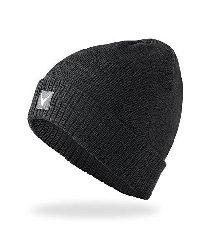 Black Embout Crevice Bonnet pour Homme Taille Unique Noir - Noir