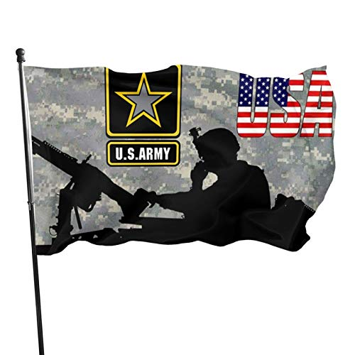 ~ U.S. Army Camo Starry Flag Military America Veterans Flags 3x5, Garden Flag Steeler.S Home Banners, Uv Fade Resistant, Festive Decor for Outdoor Yard, Patio, Lawn