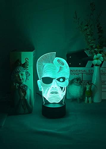 GMYXSW 3D-anime-lampa natt Levi Ackerman illusion nattfigur från Attack On Titan japansk anime LED-sensorlampor Otaku glöd rum dekoration mote-spricka bas_2