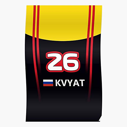 One Kvyat Daniil Formula 26 1 Russia Racing F1 I Formula- The Best and Newest Poster for Wall Art Home Decor Room I Customize