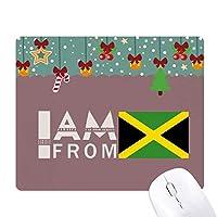 私はジャマイカから ゲーム用スライドゴムのマウスパッドクリスマス
