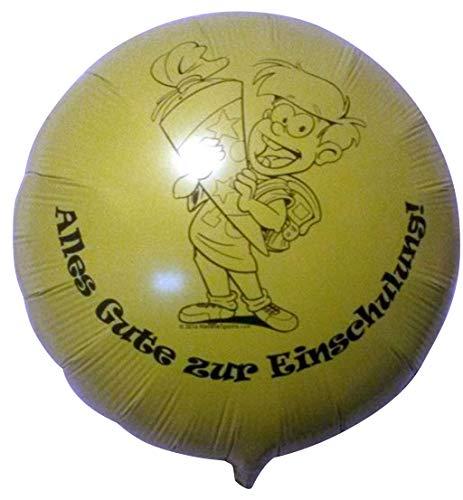 Ballonservice Berlin Folienballon Einschulung / Schulanfang Junge gelb 45cm